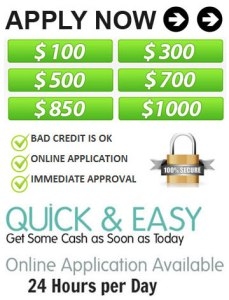 payday loans for bad credit and no upfront fees